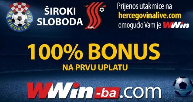 Prijenos utakmice Široki Brijeg – Sloboda na www.hercegovinalive.com omogućila vam je kladionica Williams – Wwin