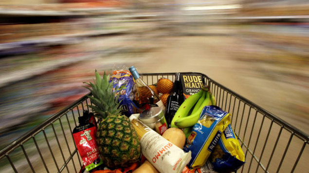 "A shopping trolley is pushed around a supermarket in London, Britain May 19, 2015. REUTERS/Stefan Wermuth/File Photo    GLOBAL BUSINESS WEEK AHEAD PACKAGE - SEARCH ""BUSINESS WEEK AHEAD JULY 18"" FOR ALL IMAGES"