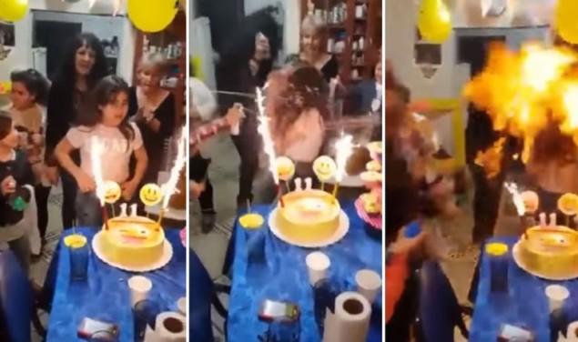 rođendan torta vatra