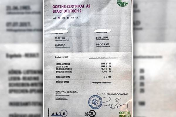 Velika kriminalna grupa pala u Austriji: Falsifikovane diplome njemačkog jezika, među uhapšenima i državljani BiH