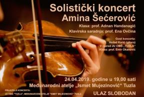 solisticki koncert amina secerovic plakat